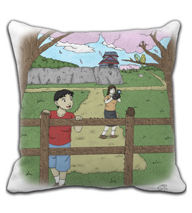 Throw Pillow manga pg comic destiny page cover illustration drawing draw color colored photograph