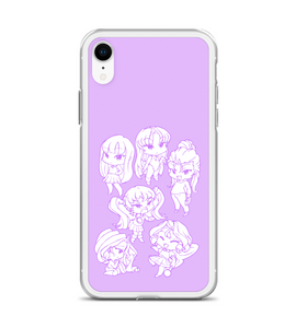 Chibi girls childlike child manga anime japanese young funny characters drawing case Phone Case