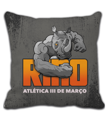 Throw Pillow Grey Rino
