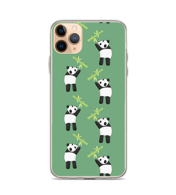 Panda trying to reach bamboo Phone Case