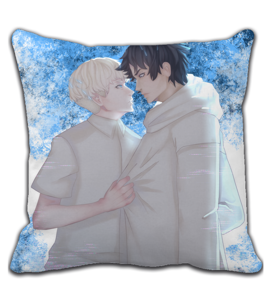 Throw Pillow Devilman crybaby Akira and Ryo