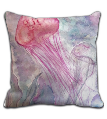 Throw Pillow jellyfish cute
