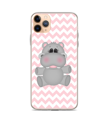 Hippopotamus Animal Hug Chevron Print Phone Case