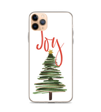 Joy Christmas Tree Print Phone Case