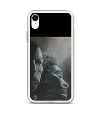 Phantom Opera singer romance tragic mask dame charcoal traditional artwork music musical Phone Case