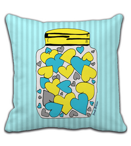 Throw Pillow Let go of your heart - Art made by hand and digitally finalized.