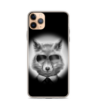 The Stylish Fox glasses mib anthropomorphic in a suit necktie drawing black pilot's Phone Case