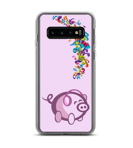 Pig Music Notes Headphones Phone Case