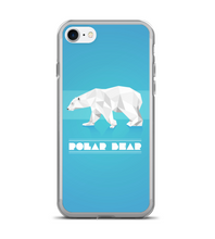 Polar Bear Snow Animal White Ice Wild Geometrical Polygons Blue Phone Case