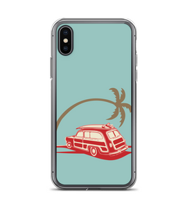Vintage Palm Tree Print Phone Case