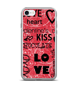 Valentines Day Love Heart Print Phone Case