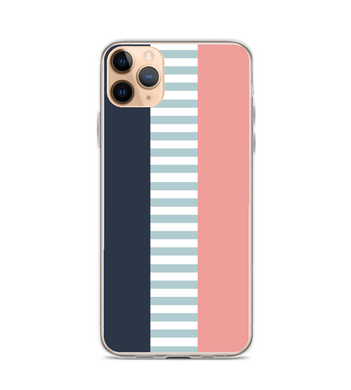 Pink and Blue Striped Pattern Phone Case