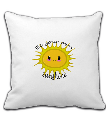 Throw Pillow Be your own sunshine