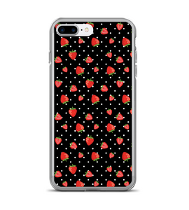 Strawberry Polka Dot Print Phone Case