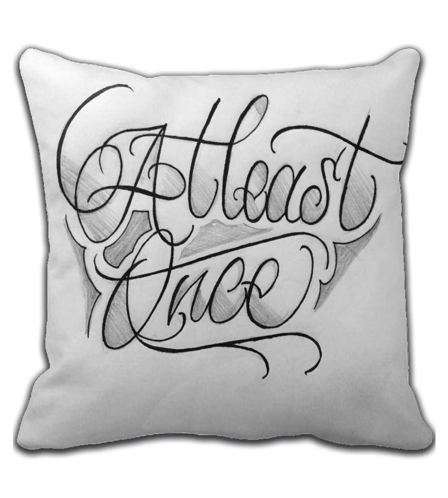 Throw Pillow Sleep letters