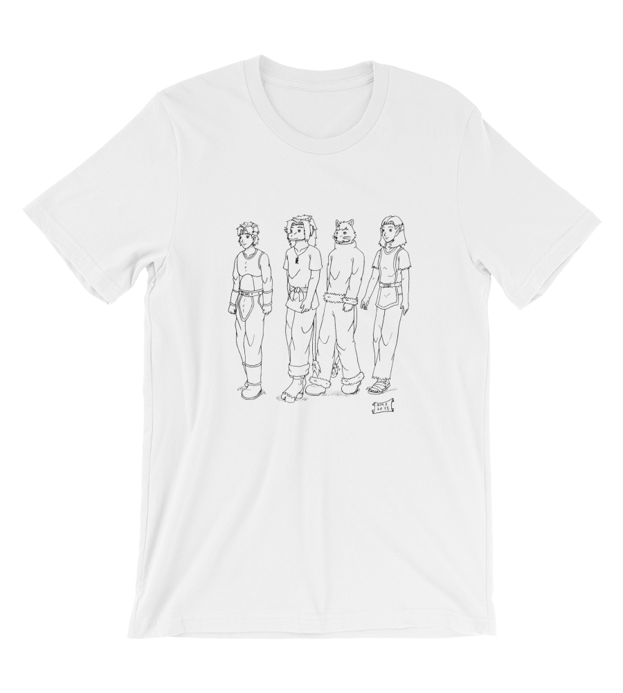 T-Shirt manga pg comic destiny page cover illustration drawing draw black white monochromatic