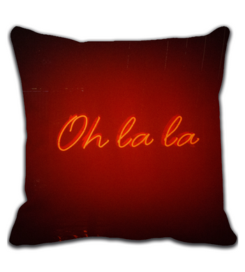 Throw Pillow Oh la la