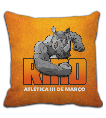 Throw Pillow Rino Orange