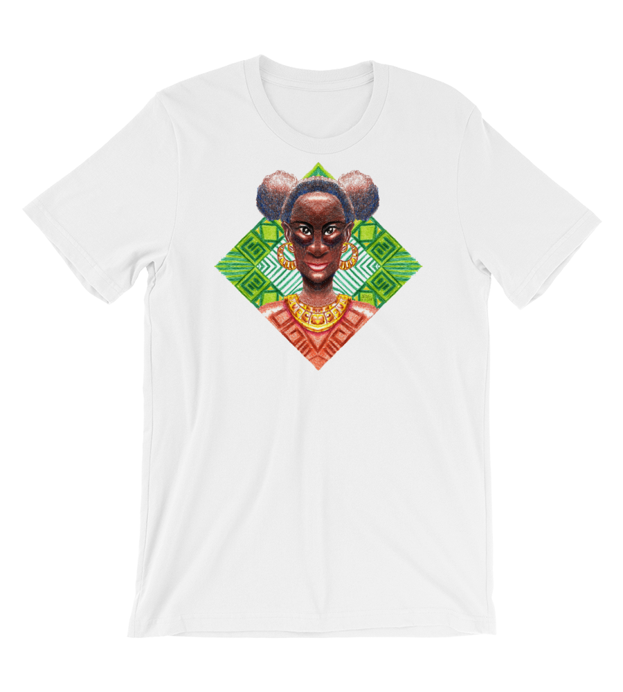 T-Shirt Crayon muse afro africa black power ethnic black woman