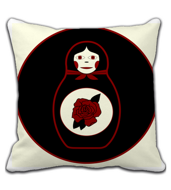 Throw Pillow Old School Matryoshka
