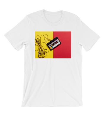 T-Shirt Black cassette tape