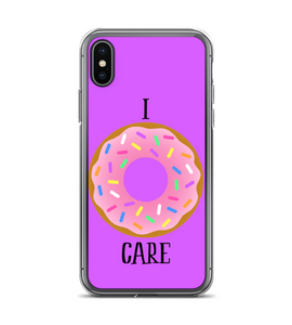 I Donut Do Not Care Print Phone Case