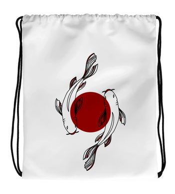 Drawstring Gym Bag Koi Japanese Harujuku