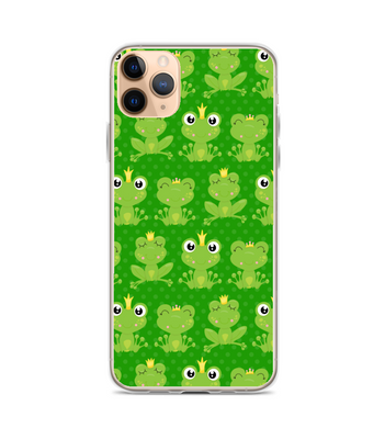 Frog Pattern Print Phone Case