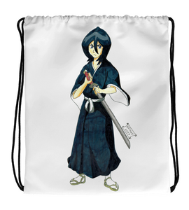 Drawstring Gym Bag manga comic cover illustration drawing draw color girl fanart swordsgirl woman