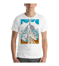 T-Shirt blue haired girl illustration