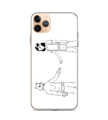 manga pg comic destiny page cover illustration drawing draw black white monochromatic boy Phone Case