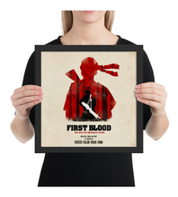 Framed Poster Rambo : First blood movie poster Olly Moss style