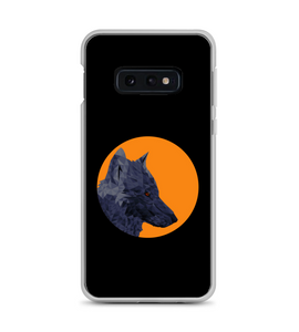 the lone gray wolf looking at the victim Phone Case