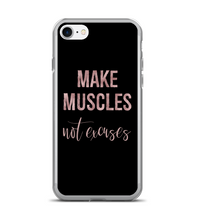 Make Muscles Not Excuses Print Pattern Phone Case