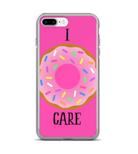 I Donut Care I Do Not Care Print Phone Case