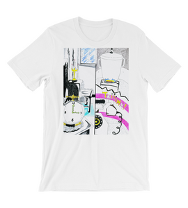 T-Shirt manga pg comic pop art page cover illustration drawing draw color colored cook phone pan