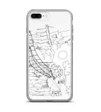 manga pg comic scenery page cover illustration drawing draw black white monochromatic Phone Case