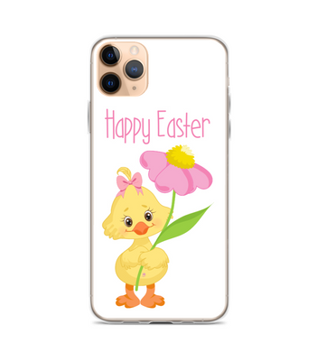 Easter Chick Flower Print Phone Case