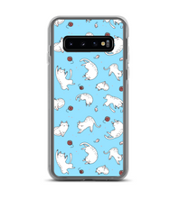 cats kitties playing cute animals pet ball of wool mouse blue Phone Case