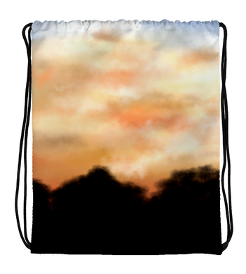 Drawstring Gym Bag Sunset