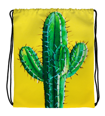Drawstring Gym Bag Mandacaru cactus