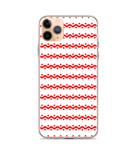 Red Gingerbread Icing Christmas Pattern Print Phone Case