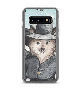 Cute Lady Raccoon Dog in hat - medieval style - original watercolor ink art - part of 3 Phone Case