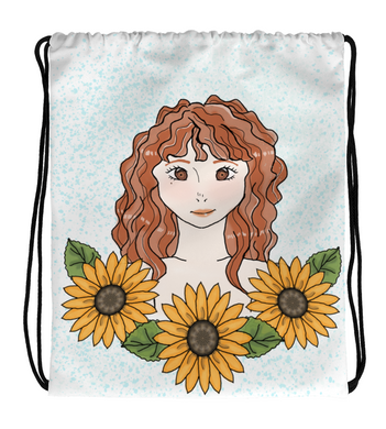 Drawstring Gym Bag Sunflower