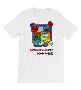 T-Shirt Languages Learned, Doors Opened