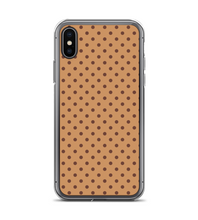 Brown Coffee Polka Dot Pattern Print Phone Case