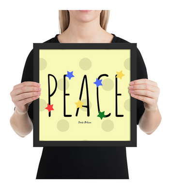 Framed Poster Peace. Digital Art
