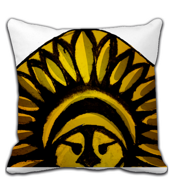 Throw Pillow Indian Warrior Centralized Version