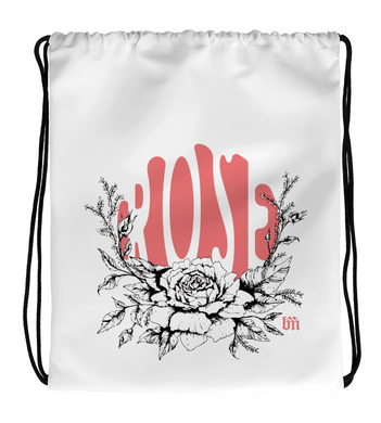 Drawstring Gym Bag Rose