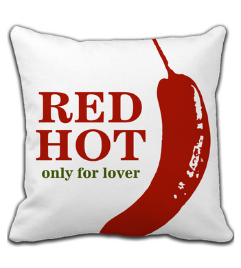 Throw Pillow Red Hot Lover